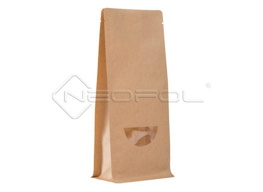 BOXpack® Flachbodenbeutel Kraftpapier/PET/CPP