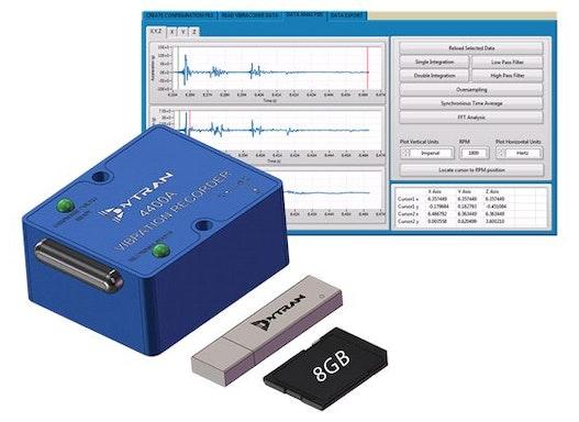 VibraCorder: mobiler triax. Beschleunigungs-Logger