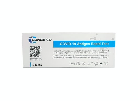 Clungene COVID-19 Corona Antigen Schnelltests, Selbsttest, zugelassen vom BfArM zur Eigenanwendung durch Laien