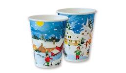 Kaffeebecher/Heißgetränkebecher/Coffee to go Becher/Glühweinbecher mit Wintermotiv