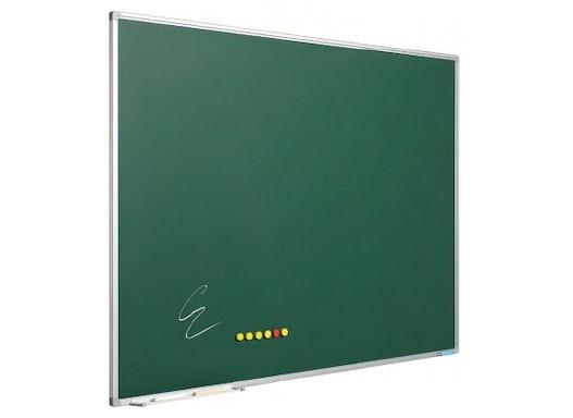 Kreidetafel Softline Profil, grün emaillierter Stahl