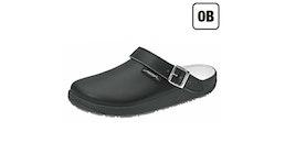 Clog RUBBER 9252 von ABEBA / Glattleder schwarz / OB / Rutschhemmend...| Berufsbekleidung für den medizinischen Bereich