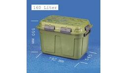 JUMBO-DRY-BOX 160 Liter, groß, grün und wasserdicht