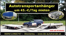 Autotransportanhänger um 45.-/ tag mieten