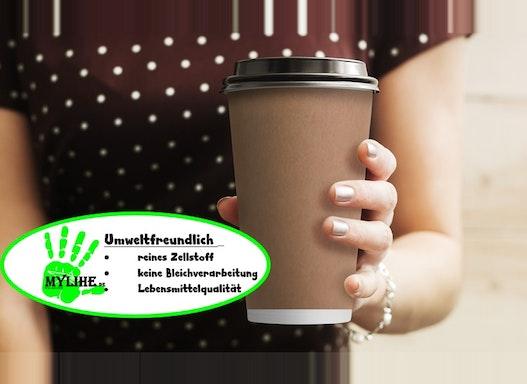 Papierbecher Kaffee to go , Kaffeebecher mit Werbedruck