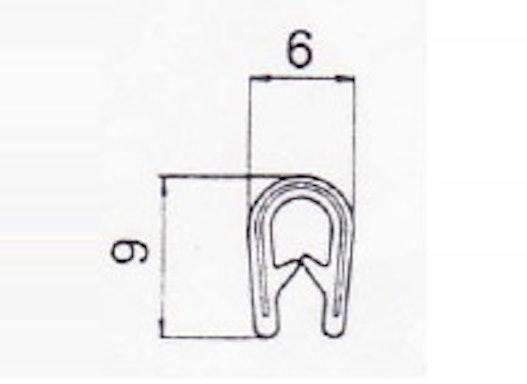 Kantenschutz 9 x 6 mm, weißgrau Art.-Nr. 010 027