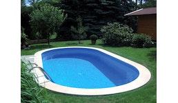 400 x 250 x 120 cm Poolfolie Ovalbecken