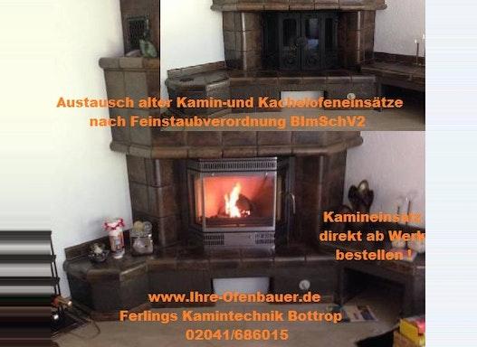 Austausch Kamineinsatz-Kachelofeneinsatz nach BimschV2