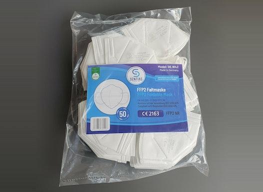Atemschutz Maske FFP2 NR Sentias (1 Packung = 50 Stück)