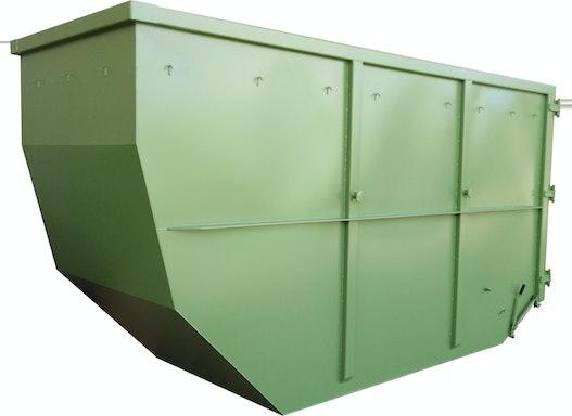 Absetzcontainer mit Doppelflügeltür (offen, asymmetrisch, alte DIN )