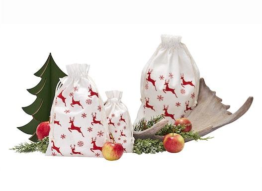 Weihnachtsbeutel Baumwolle Motiv