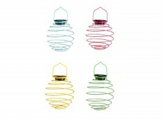 LED Mini-Solar-Spirale 4er Set Dekoleuchte Kunststoff/Metall