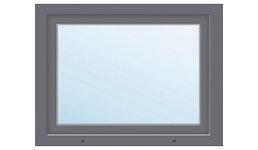 Kunststofffenster 1-flg. ARON Basic weiß/anthrazit 950x850 mm DIN Links