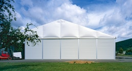 Industrie Halle und Zelte