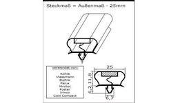 Kühl- und Gefrierschrank-Ersatzdichtung - Profil Nr. CGK-GA