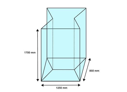 Seitenfaltensack 1250+850x1700mm ASP-800 Behälter (50 Stück/ Karton)
