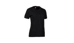 PRO Wear CARE Damen Poloshirt 375 von ID / Farbe: schwarz / 50Pr. BA...| Berufsbekleidung für den medizinischen Bereich