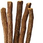 Süßholzwurzel und geschnittene Wurzel
