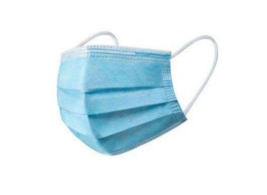 Mund- und Nasenschutz 3-lagig blau