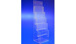 Prospektständer aus Acrylglas, Acryline, Prospektständer 5-fach A5