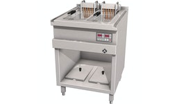 Elektro-Fritteuse, 2 Becken, 12,5 L, London 2 mit elektronischer Regelung