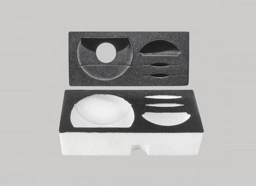 EPS-Verpackungspolster für Leuchten (Oberfläche mit Beflockung)