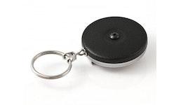 KeyBak Schlüsselrolle KB 5 Black #5B (Kette+Clip)