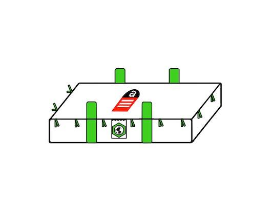 Plattenbag 260x125x45cm,SWL 1700kg,SF:5:1