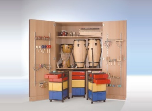 Musikschrank, hoch 2-türig, 120 cm breit , 12 InBoxen