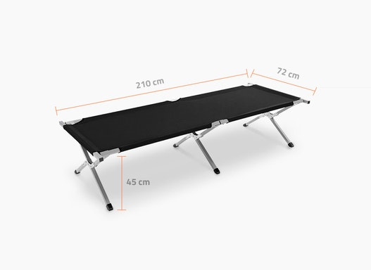 Feldbett XL 210 mit großer Liegefläche / Campingbett / Notliege / Betten für Notunterkünfte