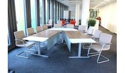 MULTICOM - Konferenztischanlage von Kinnarps inkl. 10 Stühle
