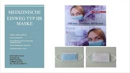 CRISTAL Medizinische 3-Schicht-Maske Typ IIR (Hergestellt in Bulgarien)