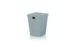 Wäschebox Alvaro PP-Faserband grau 40x40x52cm