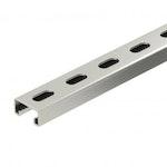 Schwere C-Profilschiene zur individuellen Installation von Tragekonstruktionen oder Kabelverlegung. E30, E90.