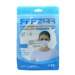 1 Stück FFP2 Atem Schutzmaske Mundschutz CE 2163 Barbeador blaue Verpackung