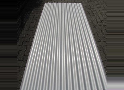 Aluwelle 18/76/0,70 RAL 9006 Dach u. Wand 3 m