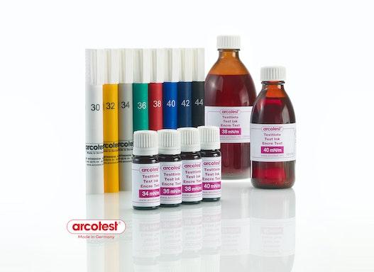 Testtinten für Oberflächenspannungsprüfung arcotest® PINK