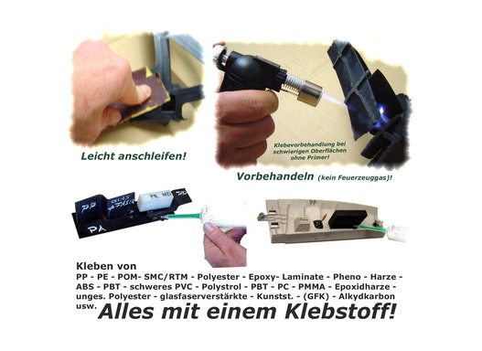 Klebekoffer Set für Kunststoffe- PP/PE/POM/ABS/SMC usw. - Klebstoffe für Kunststoffe
