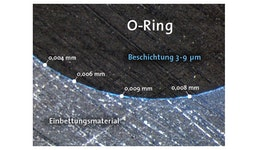 Schichtdickenmessung an querschliffen