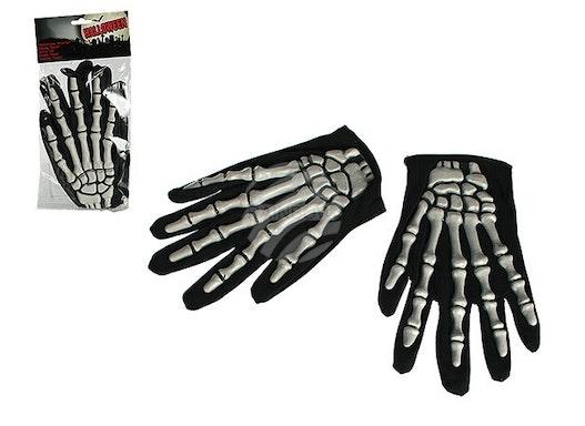 63-2658 Handschuhe, Knochen, ca. 24 cm, Einheitsgröße, im Polybeutel mit Headercard