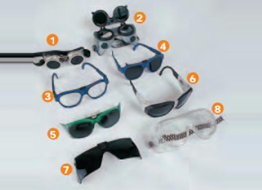 Brillenaufsatz zum Schweißen