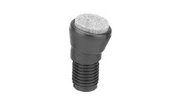 Bodengleiter, Rohrstopfen für Rundrohr / Vierkantrohr mit Gelenk Typ GGF / Ø 18 - 25 mm