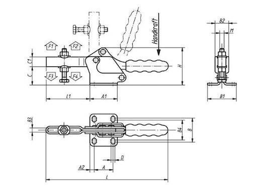 Schnellspanner horizontal 0075