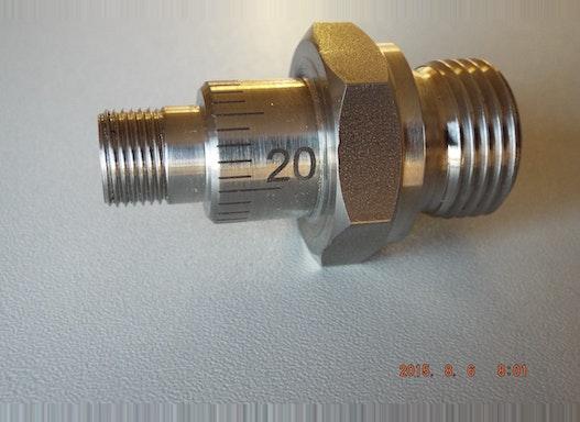 Rundgravur 360 ° Metalle werden mit dem CO2Laser oder YAG-Laser bearbeitet. Den Laserstrahl kann man z.B. so einstellen,