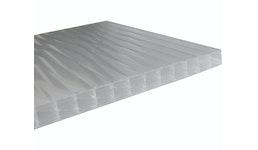 Stegplatte 16mm X-Struktur UV opal Breiten: 0.98m / 1.2m Längen: 1m - 7m