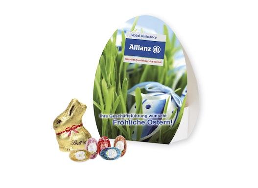 Werbe-Osterei mit feiner Schokoladenmischung von Lindt