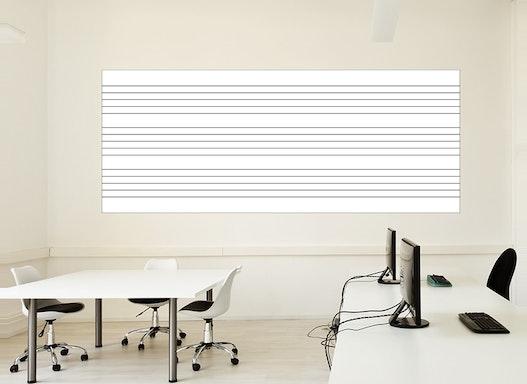 Magnetische Whiteboardfolie Notenlinien | selbstklebend | für Magnete