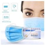 Hygienemasken 3-lagig, blau (50 Stk.)