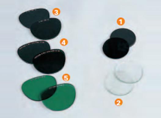 Ersatzgläser für Augenschutz