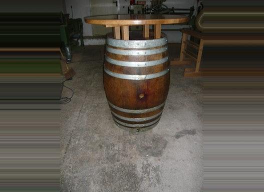 Thekenfass gebraucht mit Tischplatte 90 cm Durchmesser
